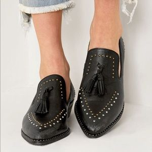 Free People Rangley Leather Studded Loafers